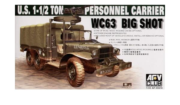 AFV Club 1/35 U S  1-1/2 ton personnel carrier WC63 # 35S18: Amazon