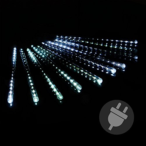 Lichterregen Meteorschauer 180 LED Lichterkette Meteor-Effekt Partylicht Meteorlichter Weihnachtsbeleuchtung Partydeko Trafo Xmas (Lichter Wasserfall Weihnachten)