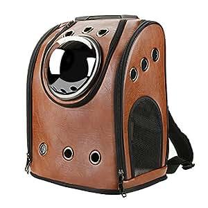 LEVB Sac à dos de transport Voyage pour le chien et le chat jusqu'à 10kilos (Marron)