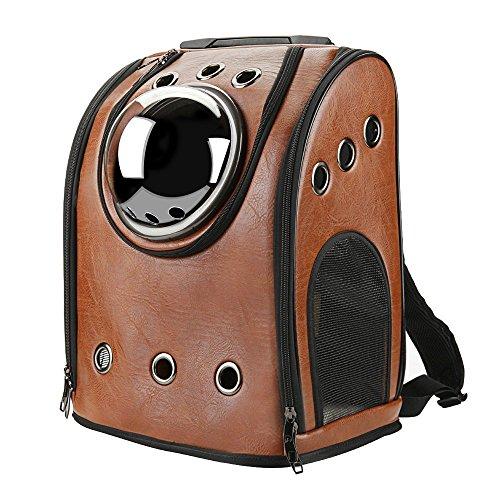Mesh-kupplung (caduo Pet Travel Carrier Rucksack, Umschaltbare Mesh Panel Astronaut tragbar oudtoor Transportbox aus PU Leder für Katzen und Hunde)