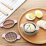 EQLEF® Ein Set mit 3 Stück Weizenstroh Ei Cutter Multifunktions