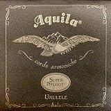 Aquila Ukulele Soprano Set Super Nylgut Low G Red - Jeu De Cordes