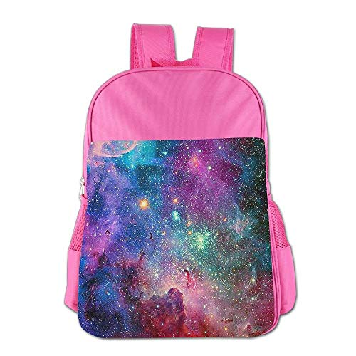 Beautiful Space Galaxy Children School Backpack Carry Bag for Teens Boy Girls Wheeled Carry Case