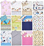Baby Comfort 2 Piece Duvet Cover & Pillowcase 80x70 cm Set for Crib/Cradle/Pram