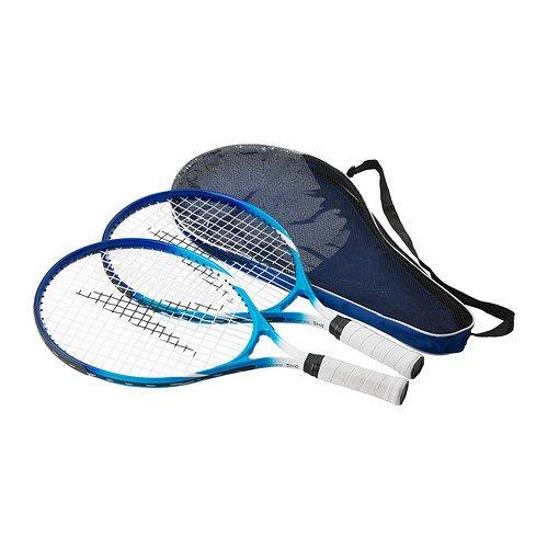 """Preisvergleich Produktbild IKEA 2-er Set Mini-Tennisschläger """"SOLUR"""" zwei Mini-Rackets zum Spielen mit herkömmlichen Tennisbällen - inkl. Tragetasche"""