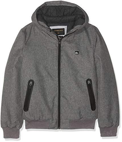 Quiksilver Jungen Brooks 5k Jacke, Grau (Light Grey Heather SJSH), 12 Jahre (Herstellergröße: M/12) -
