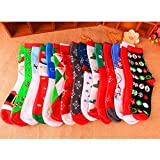 Supertong Socken Damen Weihnachtssocke Söckchen Mode Weihnachtsmann Schneemann Muster Weihnachtsmotiv Weihnachten Festlicher Geschenk für Frauen Kuschelsocken