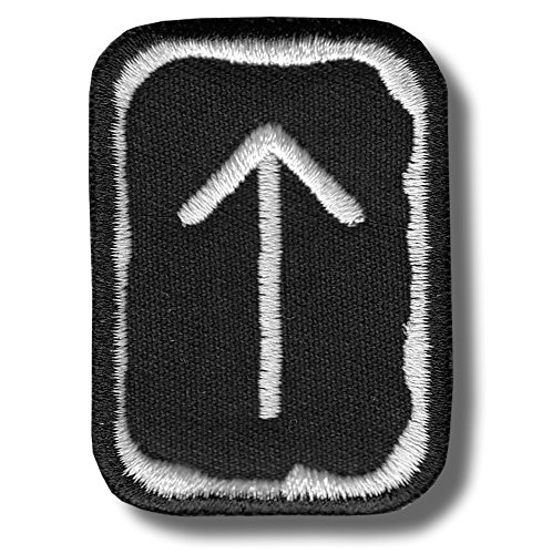 Tiwaz rune - bordado parche, 4 X 5 cm