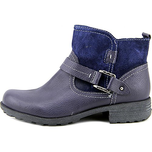 Earth Origins Paris Rund Leder Mode-Stiefeletten Admiral Blue