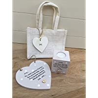 Shabby chic personalizzati Special Best Friend Friendship Gift set bag, placca e candela