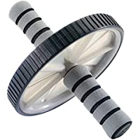 York Fitness AB Roller Bauchtrainer, schwarz/grau