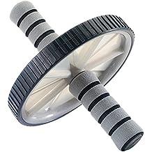 York Fitness - Rodillo de entrenamiento para vientre, color negro y gris