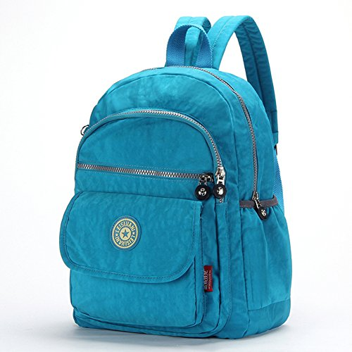 51tqi82dydL BEST BUY #1FORU Womens Sport Backpack Clas Seoul Bag Waterproof Hiking Cycling 13 Inch Laptop Schoolbag Daypack Lightweight GYM Camping Trekking City Pack Sky Blue