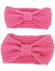Fletion Mère et bébé laine à tricoter bande de cheveux bande de cheveux Toddler Noué Bandeau bandeau parent-enfant