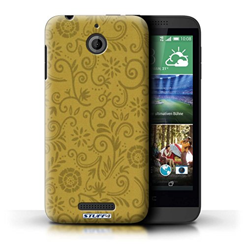 Kobalt® Imprimé Etui / Coque pour HTC Desire 510 / Fleur jaune conception / Série Motif Remous floral Fleur jaune