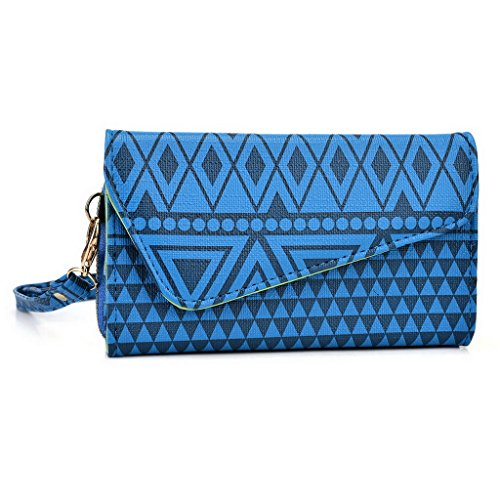 Kroo Pochette/Tribal Urban Style Téléphone Coque pour Samsung Galaxy S III White and Orange bleu marine
