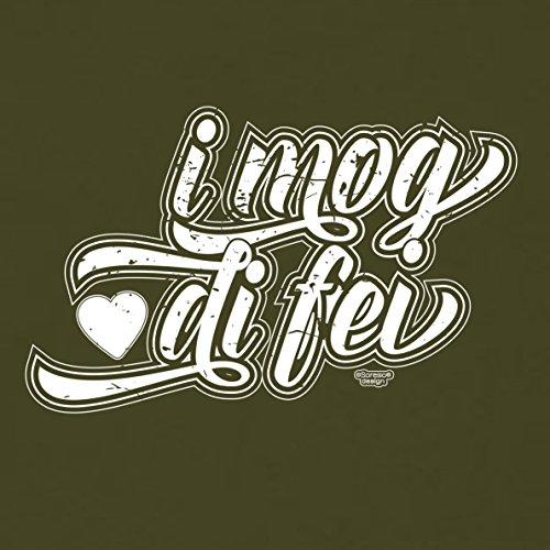 Romantische Valentinstag-Geschenkidee-T-Shirt-Männer I mog di fei Farbe: khaki Khaki