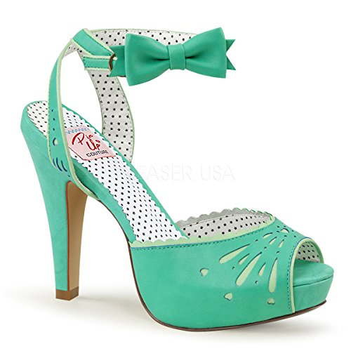 Pin Up Couture BETTIE-01 Teal Faux Leather UK 3 (EU 36 )