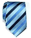 Retreez Corbata de microfibra a rayas tricolor para hombres Azul