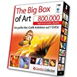 The Big Box of Art Mac 800.000 - Lizenzfreie High-End Grafik-Objekte (300.000 Vektor-Cliparts / 38.000 Photo Objects / 370.000 Webgrafiken uvm.) - Neuausgabe für Mac OS X - Deutsche Version, 7 DVD-ROMs