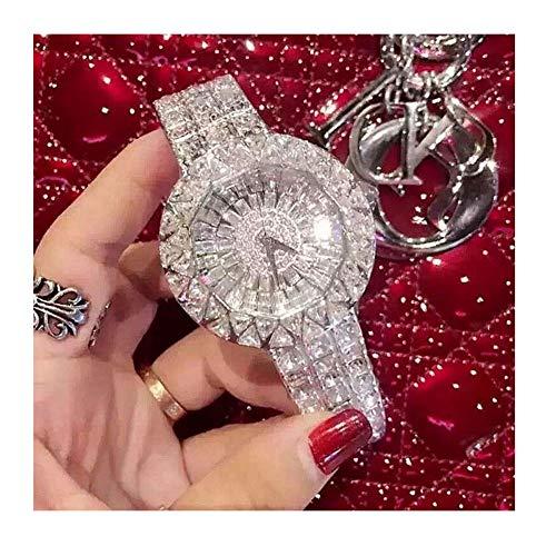 KUNDG Damen-Armbanduhr, Diamant-Uhren, weibliche Strass-Armbanduhr, Damenarmbanduhr, Kristallkleideruhren