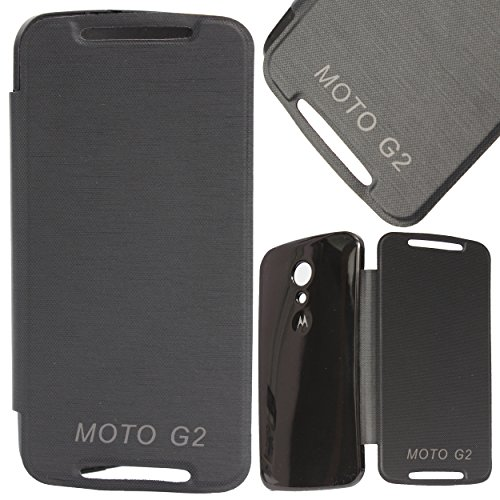 DMG Flip Book Diary Cover Hard Back Case for Motorola Moto G2 2nd Gen XT1068 (Black)  available at amazon for Rs.199