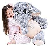 IKASA Grande Elefante Peluche Morbido Elefante Animali farcito 100cm