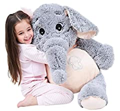 Idea Regalo - IKASA 100cm Gigante Elephant Plush Toys Baby Kids Toddlers Doll Gift