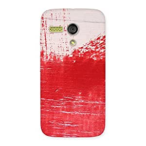 Delighted Red Fresh Texture Back Case Cover for Moto G