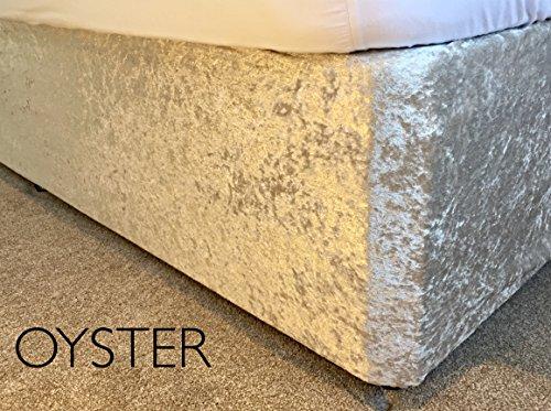 en velours élastique Lit de lit/Housse de sommier 12 couleurs, toutes les tailles (petit double, Oyster)