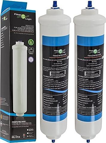 2 x FilterLogic FFL-191X - Filtre à eau externe compatible