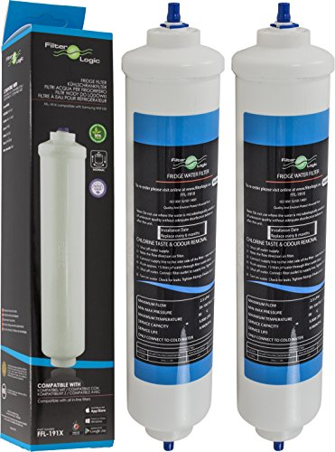 2x FilterLogic FFL-191X - Filtro de agua externo para frigo compatible con...