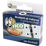 Tico 947929 - Occhielli di rinforzo in Polipropilene, Trasparente