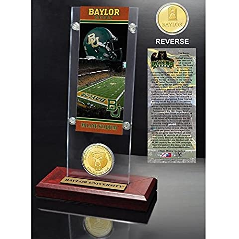 NCAA Baylor Bears Ticket & Coin Desk Top Acrylic, 12