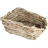 Woven Grass Pet Bed Natural Nest House Safe Hideaway Durable Chew Toy Mat For Rabbits Bunny Chinchillas Guinea Pigs Hamster Ferret