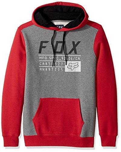 Fox Fleece Hoody District 3 Dark Fatigue Rot