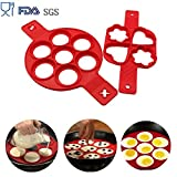 Pancake form Omelette aus Antihaft Silikon,Ring Pfannkuchen former, Pancake maker BPA-Frei, Lebensmittelechtes Silikon