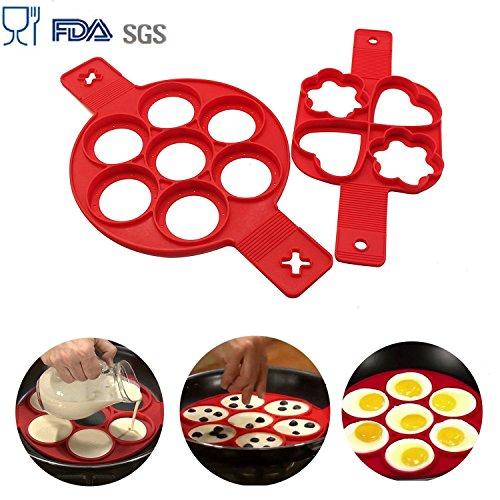 buwant 2unidades DIY Pancake moldes molde de silicona