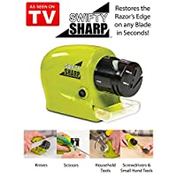 PERFECT SHOPO Swifty Sharp Cordless Motorized Knife Sharpener For Knife,Scissor and Screw-Driver