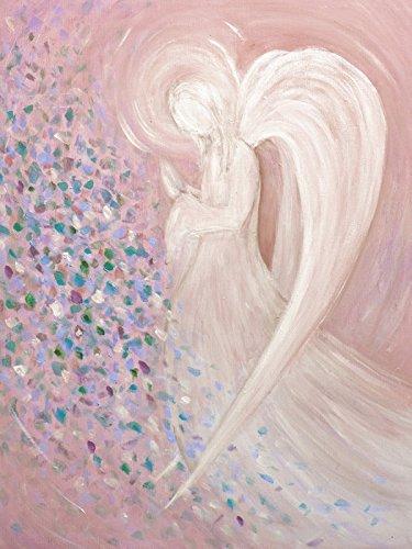 Artland Poster oder Leinwand-Bild fertig aufgespannt auf Keilrahmen mit Motiv Christine Nöhmeier Engelbild - pastell Fantasy & Mythologie Religion Christentum Malerei Pink/Rosa C0CQ