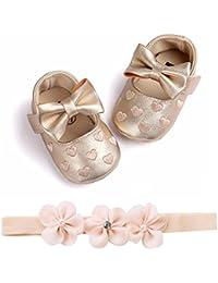 LUCKYCAT Sandales d été Bébé, Prime Day Amazon Chaussures de Bébé Filles  Garçon Chaussures à Semelle Souple Amour Cuir À la Mode… 75a178fa88be