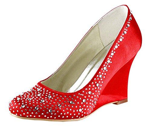 Tendance 9cm Chaussures X7wdpawq Heel Red Minitoo Mariage Femme De XXUFAO