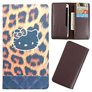 DooDa - For Karbonn A66 PU Leather Designer Fashionable Fancy Case Cover Pouch With Card & Cash Slots & Smooth Inner Velvet