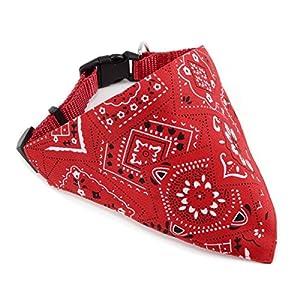 Fulla2116réglable pour animal domestique Chien col Bandana Foulard Collier Rouge