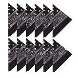 Boolavard Coton, 1er 6 ou 12 Pack Bandanas avec motif Paisley original | Couleur au choix