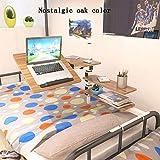 Leneom store Stabilität und Sicherheit Doppelbrett Computertisch Schlafsaal Etagenbett Artefakt College-Student Schlafzimmer Bett mit Mehrzweck Kleinen Tisch Computer klappbar faulen Tisch (Farbe Eic