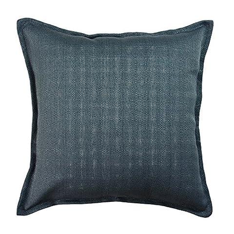 McAlister Textiles Savannah | Textured Plain Soft Jacquard Woven Navy Denim Blue Scatter Cushion Cover | 43cm 16x 16 Inch