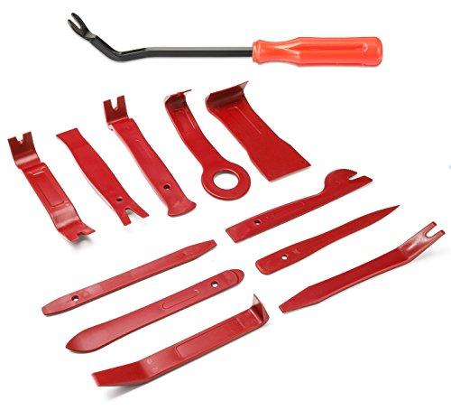 DEYUE 12 Stück Auto Demontage Werkzeuge und Auto Innenverkleidung Demontage Reparatur Werkzeug Set | Türverkleidungs Zierleistenkeile set fahrzeug und platen | Universal Hebelwerkzeug