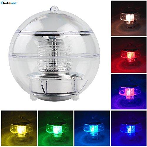 ELINKUME Solar Wasserdicht Schwimmende LED Farbwechsel RGB Ball Lampe für den Garten, Baum,Teich Swimming Pool