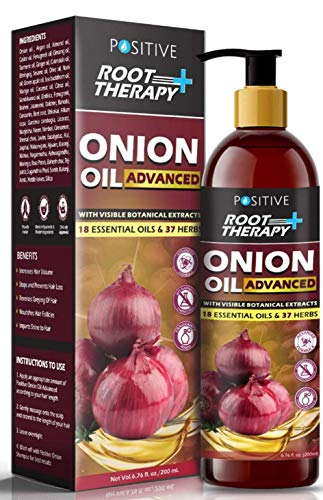 POSITIVE Root Therapy + Advanced Onion Oil for Hair Growth   Blend of 18 Essential oils & 37 Herbs & Redensyl   200mL